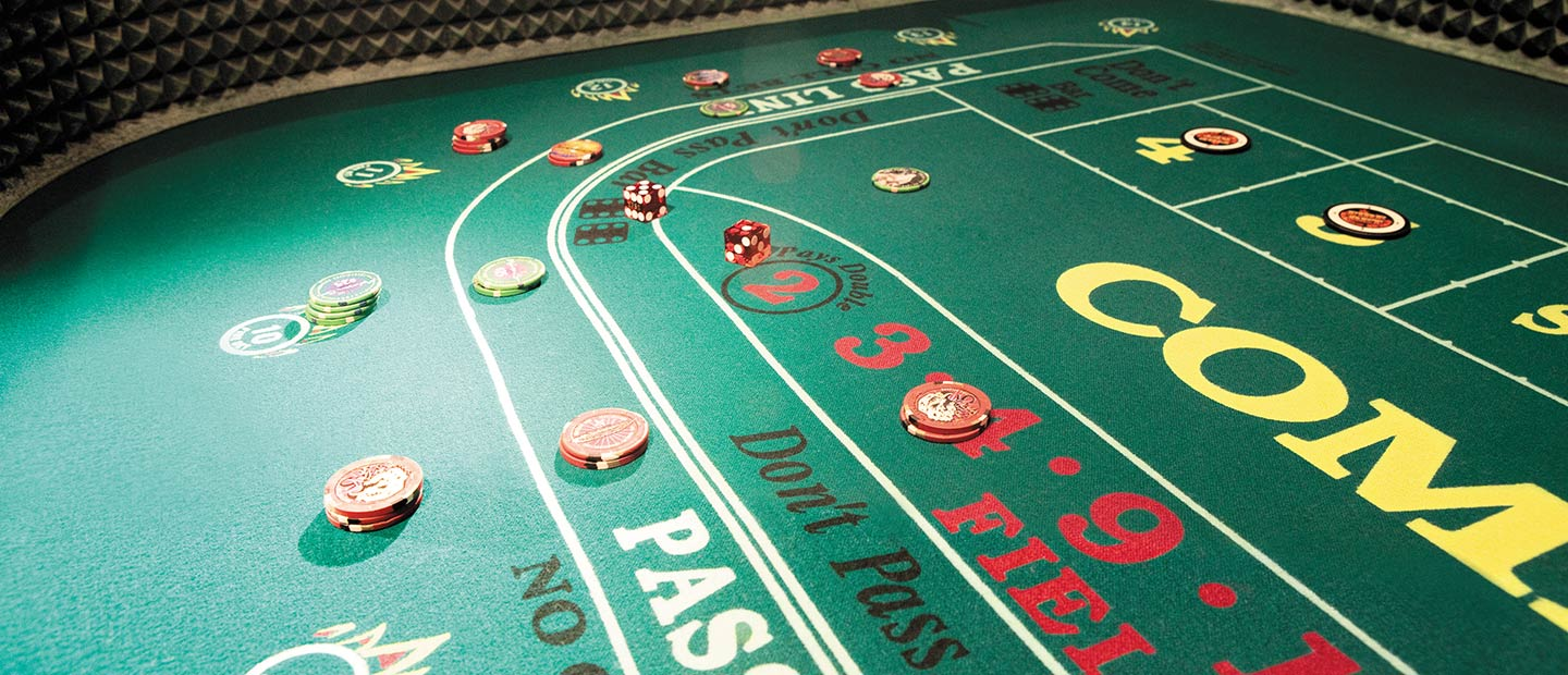 Mohegan Sun Casino craps table