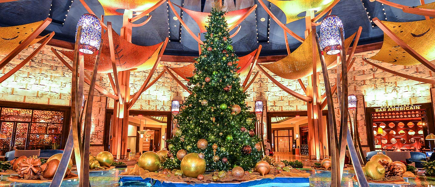 Mohegan Sun Casino Hotel Lobby winter