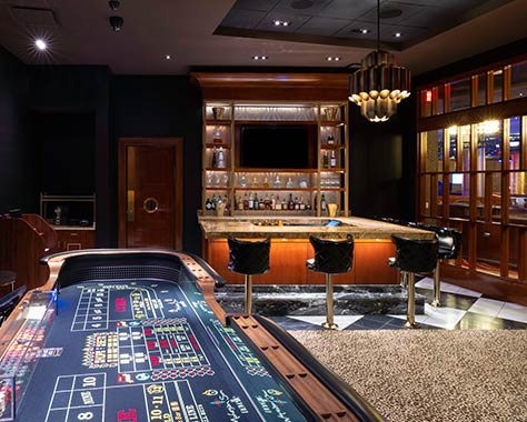 novelle private gaming room