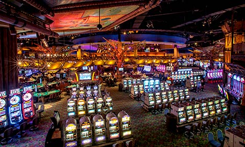 Inside of the Casino of the Earth at Mohegan Sun