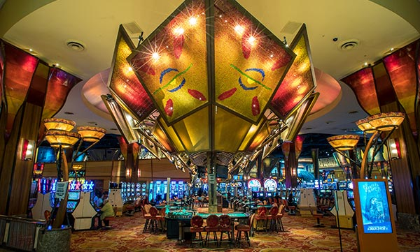 Interior of The Casino of the Sky at Mohegan Sun