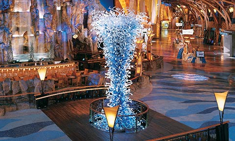 River Blue Sculpture by Dale Chihuly