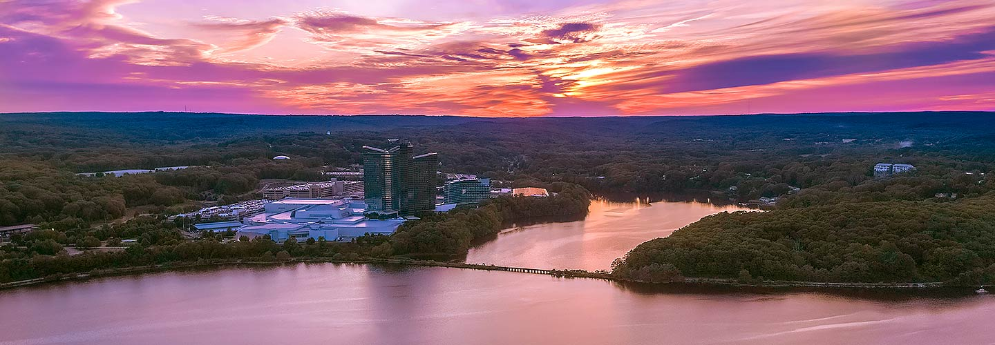 Mohegan Sun Exterior at Sunset